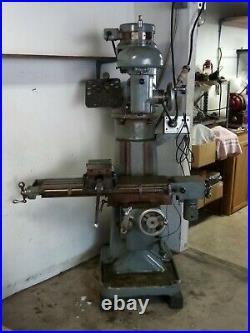 Vintage Burke Millrite Vertical Milling Machine
