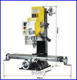 WMD25V 750W Multi-function Drilling Milling Machine +3-Axis Readout system 220V