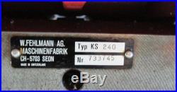 W. FEHLMANN 8 X 17 X & Y SLIDE MILLING MACHINE COORDINATE TABLE