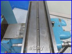 W. H NICHOLS 6-3/4 X 21 HORIZONTAL HAND MILLER / MILLING MACHINE 3/4 HP