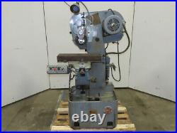 W. H. Nichols Co. Vintage Horizontal Hand Mill Slot Cutter 2Hp 230/460V 3Ph