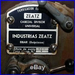 Zeatz universal index device DIVIDING HEAD attachment for large milling machine